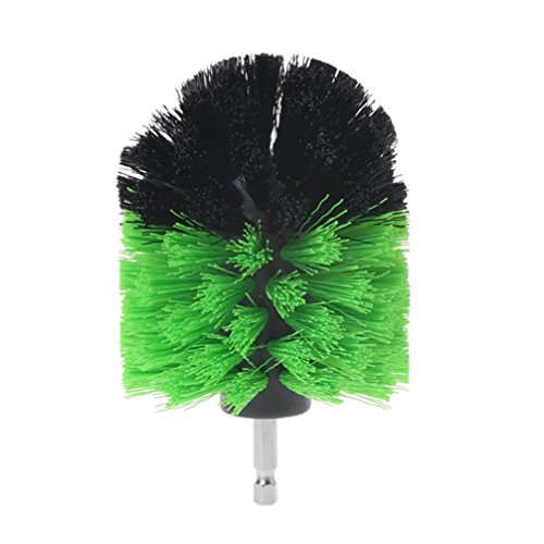 Hot Sale! Hongxin Electric Drill Brush Kit Plastic Round Cleaning Brush For Carpet Glass Car Tires Nylon Brushes Power Scrubber Drill Brush Heads Clearance Home Supplies Power Tool (green (D))