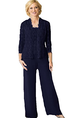 The Peachess Plus Size Pant Suits for Special Occasions Navy Blue Size 18