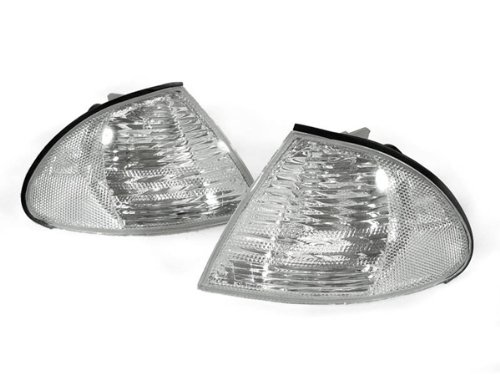 E46 Wagon (DDPO 1999-2001 BMW E46 4D Sedan 5D Wagon Euro Clear Corner Signal Lights Set)