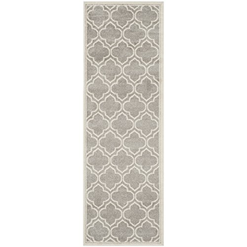 (Safavieh Amherst Collection AMT412B Light Grey and Ivory Indoor/ Outdoor Runner (2'3