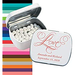 Personalized Love Wedding Tins with Mints