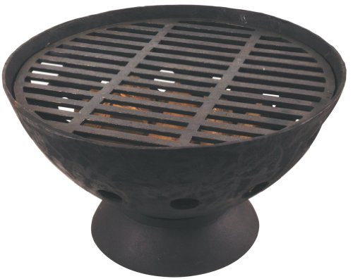Esschert Design BV11 Low Profile Firepit with Grate - Versatile barbecue grill Black cast iron Can be used as a firepot or grill - patio, outdoor-decor, fire-pits-outdoor-fireplaces - 41P1JW3kT4L -