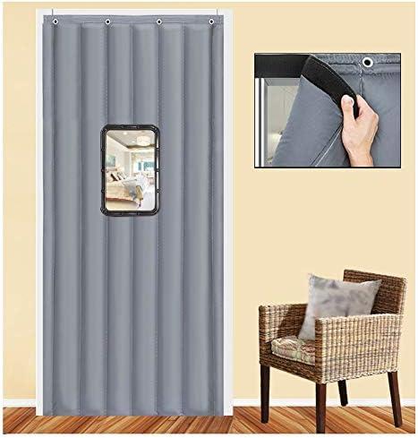 SHIJINHAO ドアカーテン厚い綿のカーテン冬の熱保護世帯のドアパネル防水防音戸口ヘビーデューティスクリーンドア防風カーテン (Size : 1.4x2.1m)