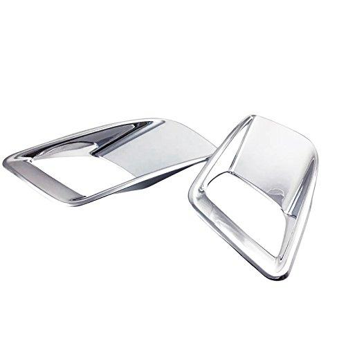 2017 For Peugeot 3008 3008GT Rear Tail Back Light Lamp Cover Trim ABS Chrome 2pcs