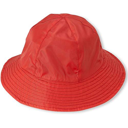 (Rain Hat Sun Hat 2-in-1 Reversible Cloche Bucket Hat By DEBRA WEITZNER,Red,One Size)