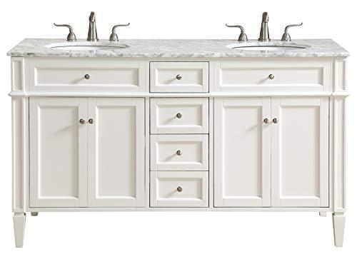 60 in. Double Bathroom Vanity Set in -