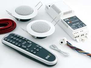 Instalación Eissound Plus Radio para cocina y baño con altavoz incluido blanco con mando a distancia