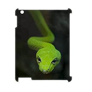 Custom Cover Case with Hard Shell Protection for Ipad2,3,4 3D case with Snake lxa#820353