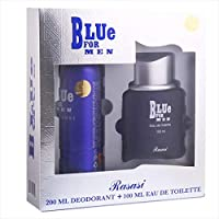 Blue for Men by Rasasi Gift Set (EDT 100ml, Deodorant Spray 200ml)