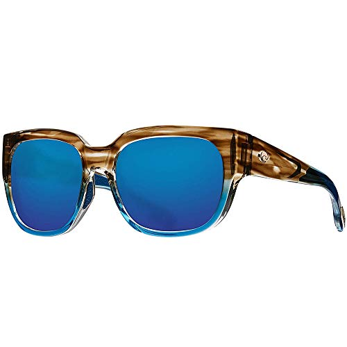 Costa Del Mar Waterwoman Sunglasses Shiny Wahoo Polarized 580G Blue Mirror Glass Lens        ()