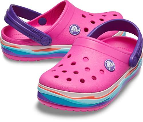 Band Crocs Magenta Crocband Kids Neon Wavy Clog Aqx0Hq6w