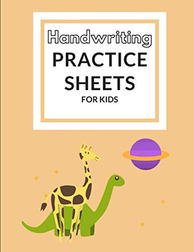 Handwriting Practice Sheets for kids: with cream paper