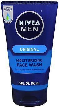 NIVEA FOR MEN Original Moisturizing Face Wash 5 oz (Pack of 2)