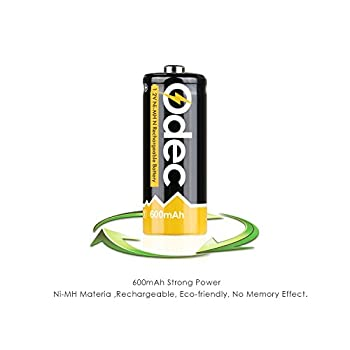 Odec N Battery, N Cell Rechargeable E90 Lr1 910a Um-5 1.5v 600mah Ni-mh For Doorbell, Prayer Wheel, Electronic Toys & More (2 Pack) 2