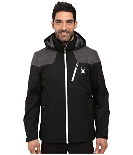 Spyder Vyrse Jacket, Black/Polar Crosshatch/Cirrus, Medium (Spyder Offset Sight Mount)