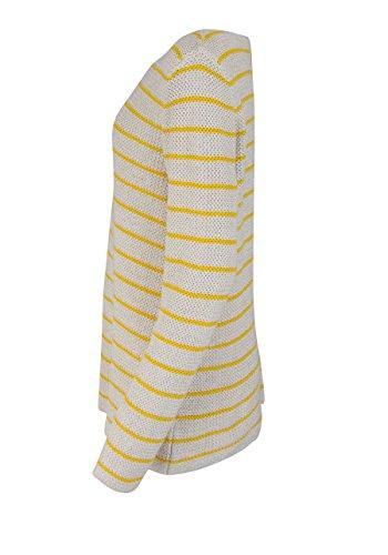 LIEBLINGSSTÜCK Langarm Pullover KIANA Rundhals Ringel beige/gelb