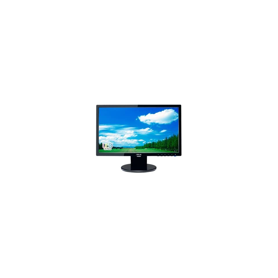 New Asus VE198T 19 Inch LED LCD Monitor Adjustable Display Angle Black 250 Nit Brightness 2 Speakers