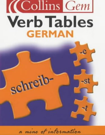 German Verb Tables (Collins Gem)