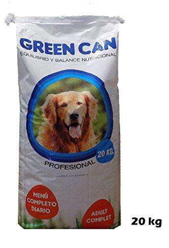 Saco pienso comida para perros GREENCAN 20 KG