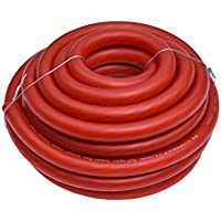 Conext Link 25 FT 1/0 AWG 0 GA Full Gauge Battery Power Cable Ground Wire Frost Red OFC Copper
