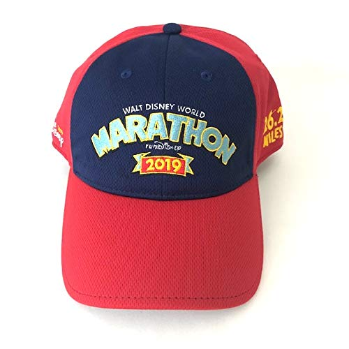 463e6923ed271f Disney Parks runDisney 2019 WDW Marathon Red and Blue Baseball Cap Hat  Adult at Amazon Men's Clothing store: