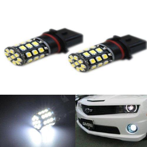 JDM ASTAR 800 Lumens Super Bright AX-2835 Chipsets P13W LED Daytime Running Light ,Fog Light Bulbs, Xenon White