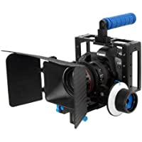 Morros DSLR Cage Set Including Camera Rig Cage Cage+Follow Focus+Matte Box for DSLR Camera/Video and Camcorders such as Canon 5D Mark II, 7D