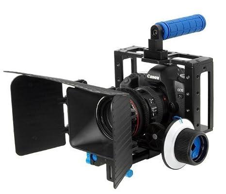 DSLR cage + follow focus + matte box for DSLR video: Amazon.es ...