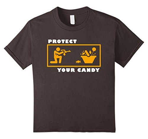 Kids Protect your Candy Shirt Funny Halloween Trick or Treat 10 Asphalt (Hillbilly Halloween Costume Ideas)