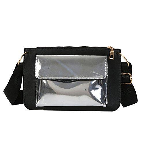 à mode Messenger femmes de Gris de bandoulière sac frappé en à ont cuir bandoulière bandoulière sacs ESAILQ la couleur cRFWacqn
