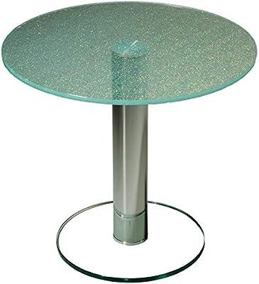 Stegert-Design Darwin3276 - Mesa Cuadrada con Tablero de Cristal ...