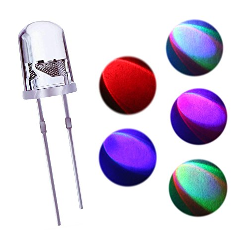 Yohii 200Pcs 5mm Slow Flash LED Lamp Multi Color Changing Dynamics LED Emitting Diode