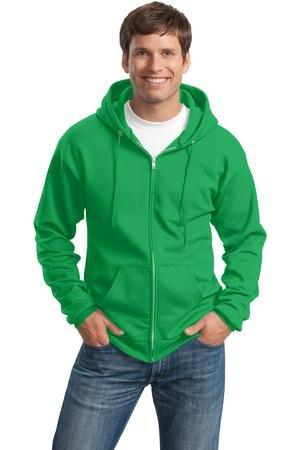 Clover Hoodie (Port & Company Men's Classic Full Zip Hooded Sweatshirt XL Clover)