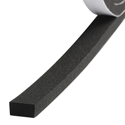 Weather Strip, Foam Seal Tape High Density Foam Strip Self Adhesive Weatherstrip Insulation Foam Rubber Seal Strip 1/2 Inch Wide X 1/4 Inch Thick X 26 Feet Long (1/2in 1/4in)
