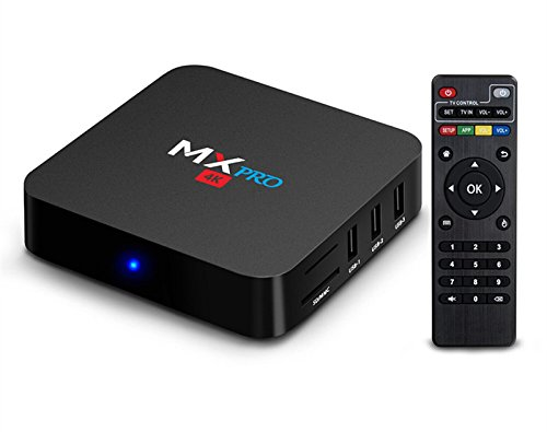 MX PRO TV BOX Android 6.0 Amlogic S905X Quad Core 64bits 1gb RAM 8gb Flash Support Wifi Smart tv box