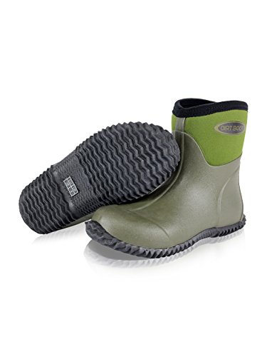DIRT Garden Wellies Field Boots Muck Yard Bootie Wellington BOOT® Green Stable Ankle Neoprene qFqUraBT