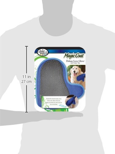 Four Paws Magic Coat Dog Grooming Deluxe Love Glove With Tender Tips by Four Paws (Image #3)