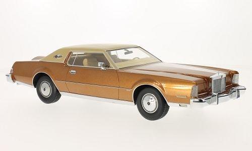 Lincoln continental Mark IV Luxus, metallizzato-Marronee beige opaco, 1974, modello di automobile, modello prefabbricato, BoS-Modelos 1 18 Modello esclusIVamente Da Collezione