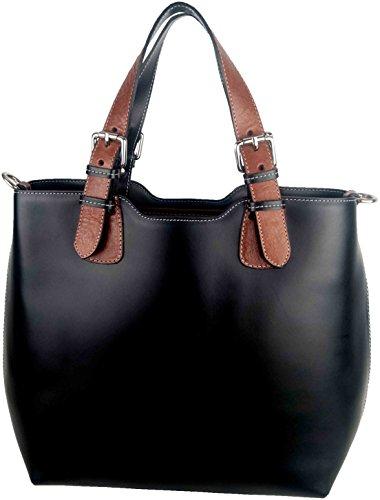 Bolso De Sehan Mujer Para Shirin Negro Tela 10U1Ox