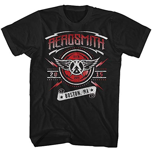 shirt Aerosmith Pour Boston 2015 T Black Hommes fxx0q5r