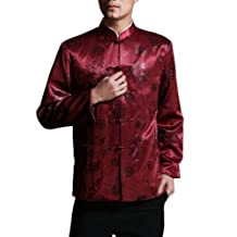 Classic Chinese Tai Chi Kungfu Red Jacket Blazer - Lightweight Silk Blend