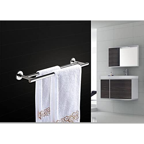 KHSKX Simplicity stainless steel bathroom hardware accessories, solid, double pole single tier Towel rack 50%OFF