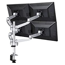 Cotytech Four Monitor Desk Mount Quick Release Swing Arm with Clamp Base (DM-C4SA5-NS-C) by Superpower, Inc. DBA Cotytech Industrial