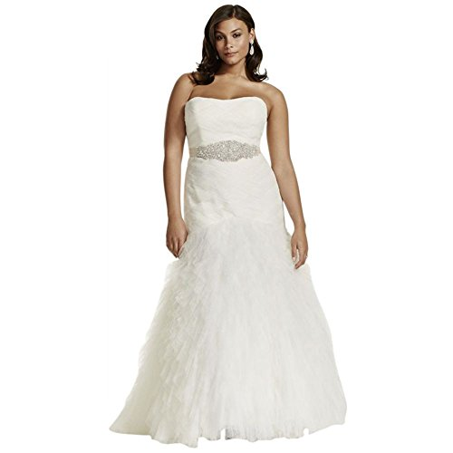 Sample: As-is Woven Bodice and Ruffled Skirt Wedding Dress Style (Woven Ruffled Gown)