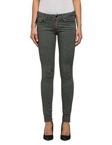 REPLAY Luz Coin Zip, Jeans Ajustados para Mujer Verde (Sage Green 20)