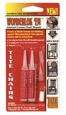 Wonder Lock-Em Tite Chairs Glue Carded 5 G