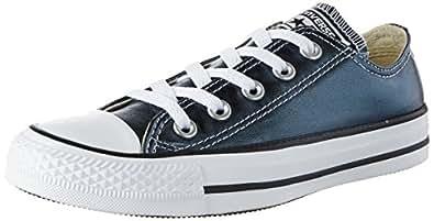 Converse CTAS OX, Zapatillas Unisex Adulto, Negro (Blue Fir/White/Black 486), 35 EU