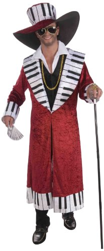 Pimp Best Costumes (Forum Novelties Men's Piano Playa Pimp Adult Costume, Multicolor,)
