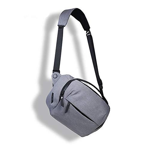 Single Shoulder Slung Micro SLR Camera Pocket Digital Camera Bag Waterproof Lightweight Camera Bag Light Grey 5L/31X19X11CM