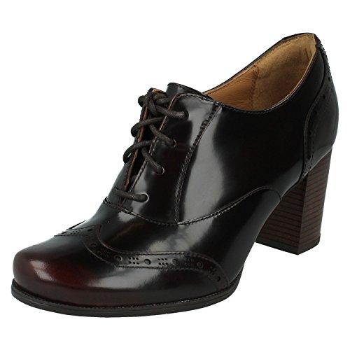 Clarks Ciera Brine Burgundy Leather Borgoña